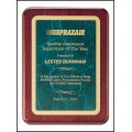 """8"""" x 10.5"""" Rosewood stained piano finish plaque"""